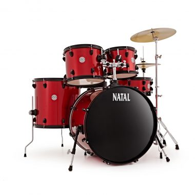 Natal EVO 22in Drum Kit With Cymbals And Hardware – Red