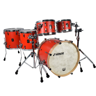 Sonor SQ1 Series 20in 5pc Shell Pack with Two Floor Toms – Hot Red