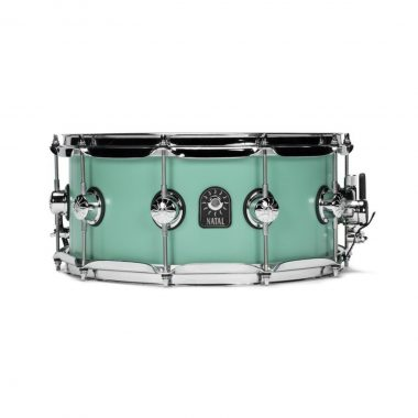 Natal 14×5.5in Cafe Racer Snare Drum – Sea Foam Green