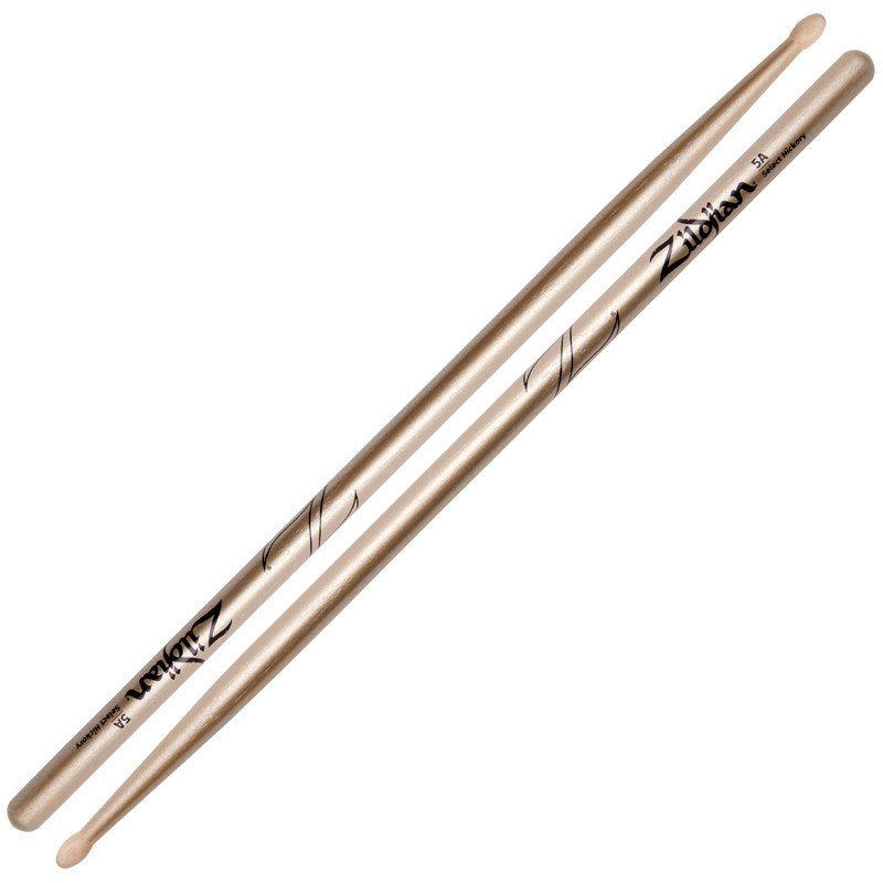 Zildjian Hickory 5A Chroma Gold – Wood Tip