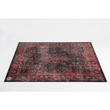 DRUMnBASE Vintage Persian Drum Mat – Red & Black