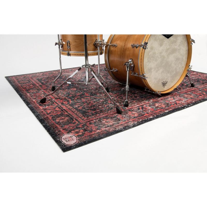DRUMnBASE Vintage Persian Drum Mat – Red & Black