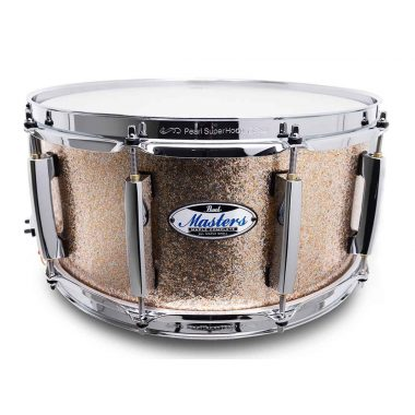 Pearl Masters Maple Complete 14×6.5in Snare Drum – Bright Champagne Sparkle