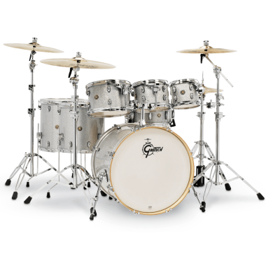 Gretsch Catalina Maple 22in 7pc Shell Pack – Silver Sparkle