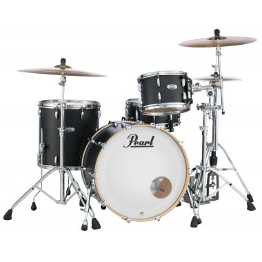 Pearl Masters Maple Complete 22in 3pc Shell Pack – Matte Caviar Black