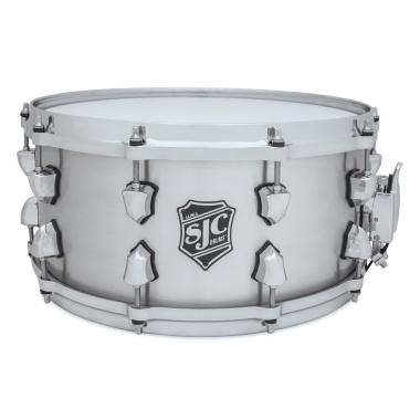 SJC Alpha 14×6.5in Snare Drum Brushed Aluminum Chrome HW