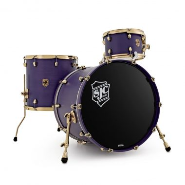 SJC Navigator 3pc 22in Shell Pack – Royal Purple W/ Brass Hardware