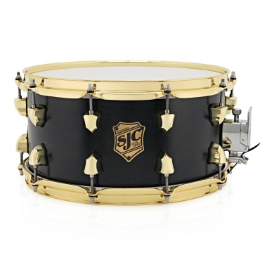 SJC Tour Series 14x7in Snare Drum – Black Satin Stain W/ Brass Hardware