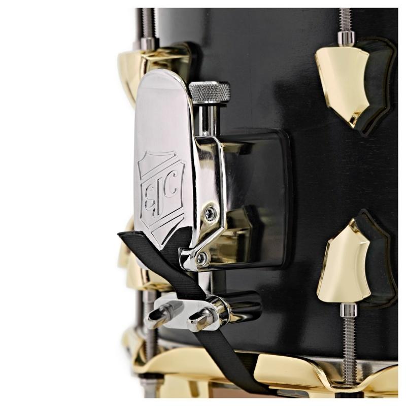 SJC Tour Series 14x7in Snare Drum – Black Satin Stain W/ Brass Hardware