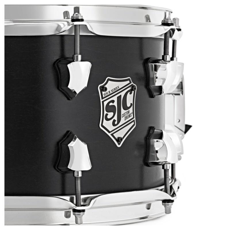 SJC Tour Series 14x7in Snare Drum – Black Satin Stain W/ Chrome Hardware
