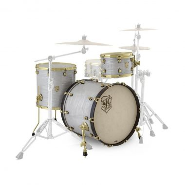 SJC Providence Series 3pc 22in Shell Pack – Mystic White with Brass Hardware