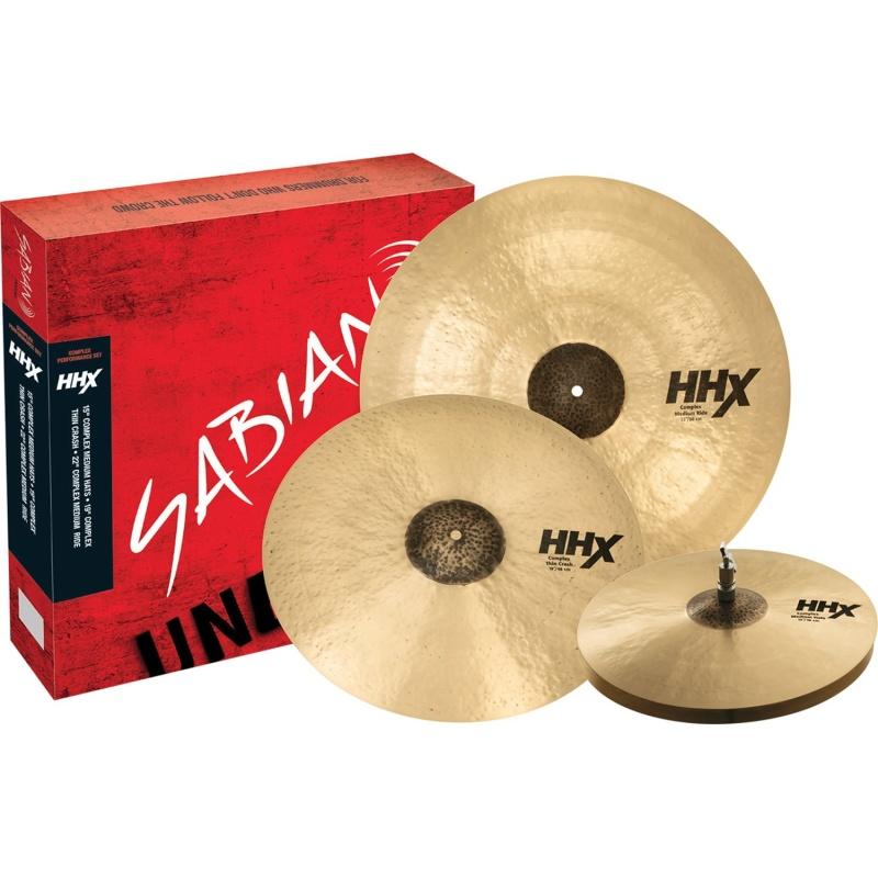 Sabian HHX Complex Performance Set Cymbal Pack – 15HH/19Cr/22R