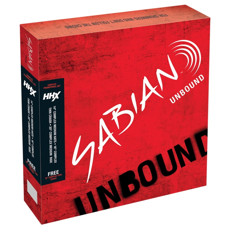 Sabian HHX Complex Promotional Set Cymbal Pack – 14HH/16Cr/18Cr/20R