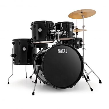 Natal EVO 20in Drum Kit With Cymbals And Hardware – Black