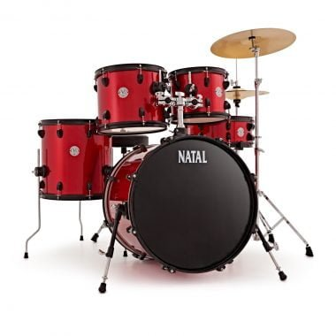 Natal EVO 20in Drum Kit With Cymbals And Hardware – Red