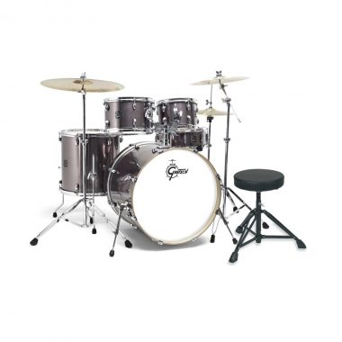 Gretsch Energy 20in Drum Kit With Paiste 101 Cymbals & Hardware – Grey Steel