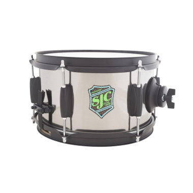 SJC Slam Can 10x6in Snare Drums – Nickel Wrap