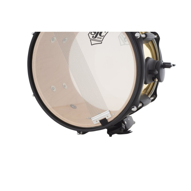 SJC Jam Can 10x6in Snare Drum – Brass Wrap