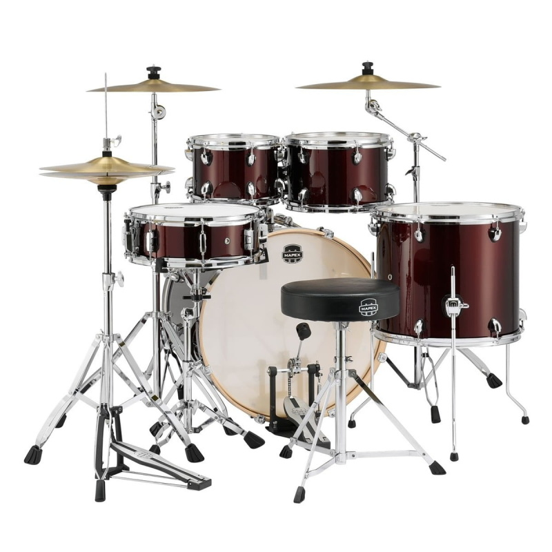 Mapex Storm Special Edition 22in 5pc Kit With Cymbals – Red