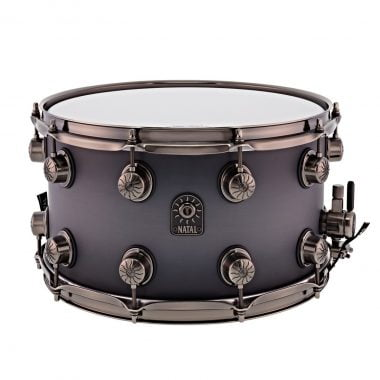 Natal Originals Walnut/Maple 13×6.5in Snare Drum – Black Burst Pewter Grain – WITH FREE CASE!