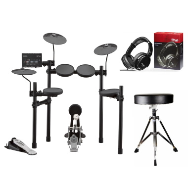 Yamaha DTX432 Electronic Drum Kit BUNDLE With Throne & Headphones
