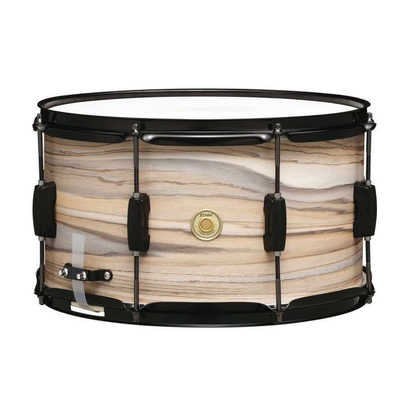Tama Woodworks 14x8in Snare Drum – Natural Zebrawood Wrap