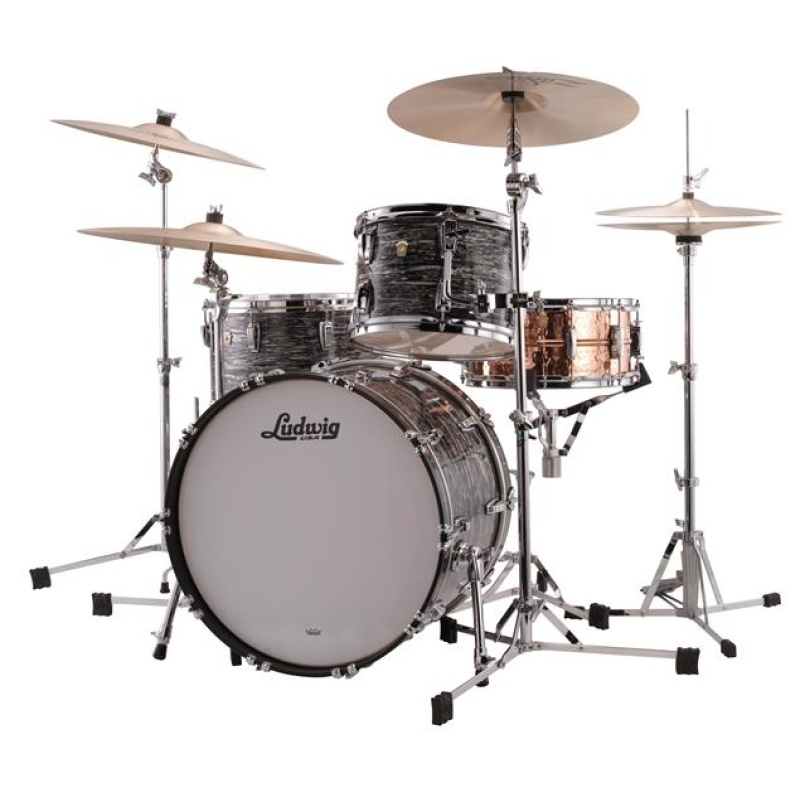 Ludwig Classic Maple FAB 22in 3pc Shell Pack – Vintage Black Oyster