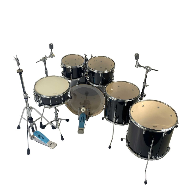 Yamaha Stage Custom 20in Fusion 6pc Kit With Hardware – Raven Black