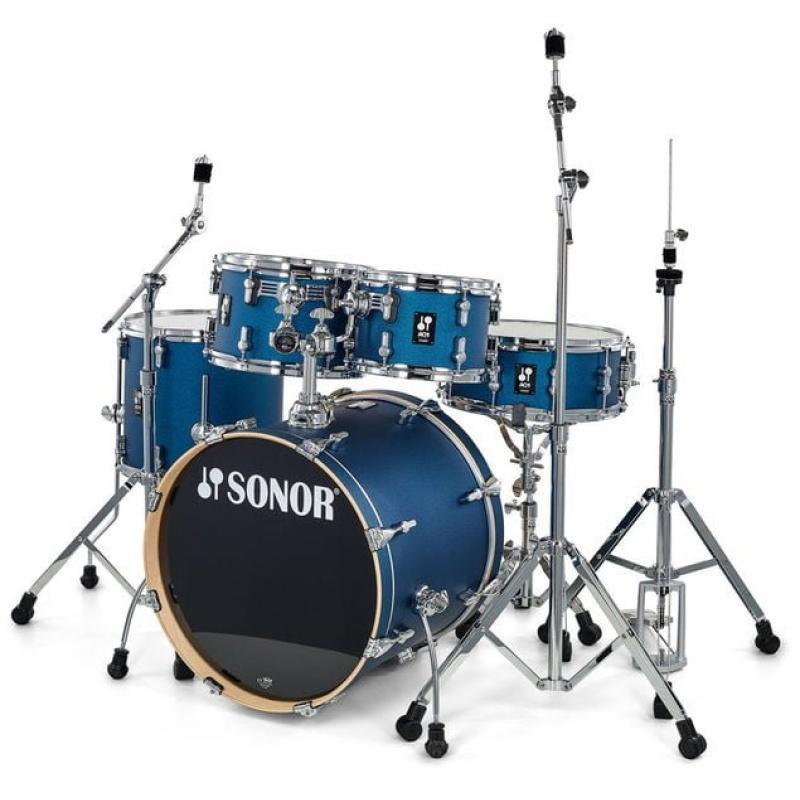 Sonor AQ1 Series 5pc Studio Set with Hardware – Dark Blue Sparkle