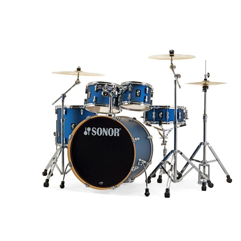 Sonor AQ1 Series 5pc Stage Set with Hardware – Dark Blue Sparkle