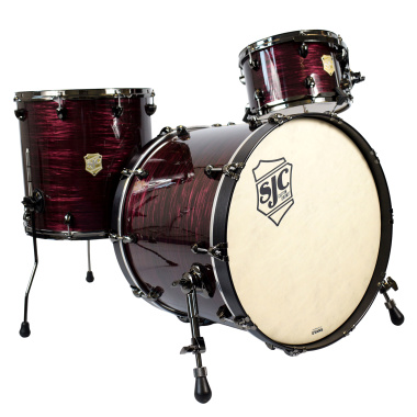 SJC Drums Providence 3pc 22in Shell Pack – Merlot Ripple w/ Black Nickel Hardware