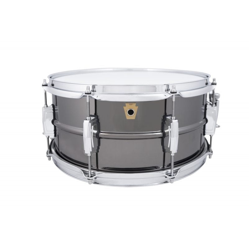 Ludwig Black Beauty 14×6.5in 8 Lug Brass Snare Drum, LB415