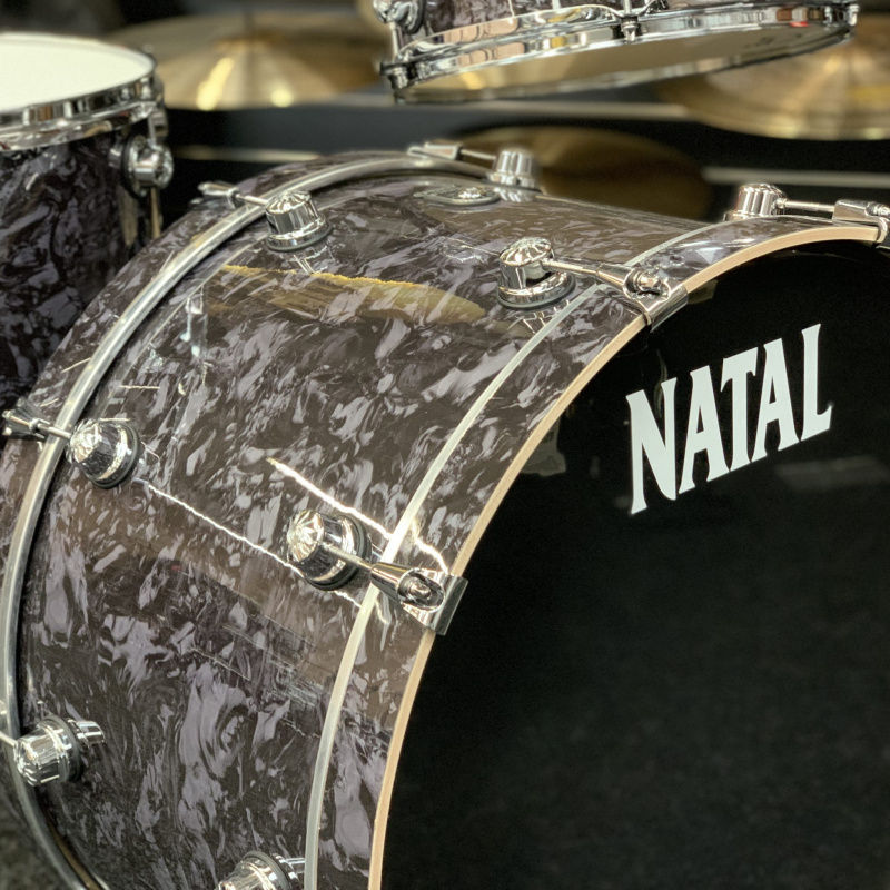 Natal Cafe Racer 24in 3pc Shell Pack – Black Swirl