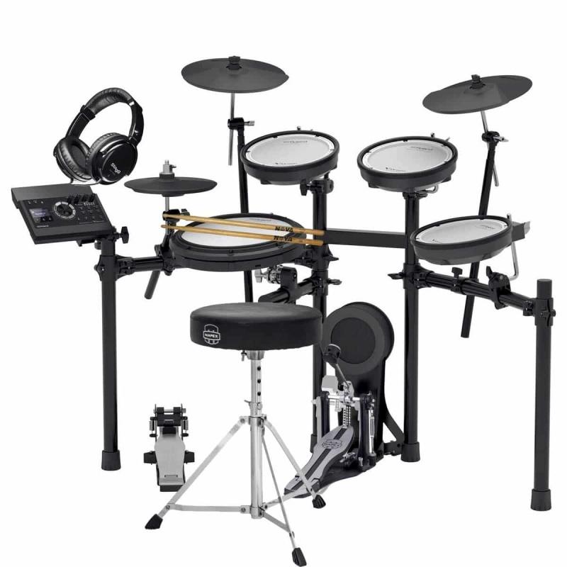 Roland TD-17KV V-Drums Electronic Drum Kit – Bundle Package