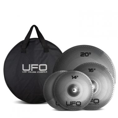 UFO Low Volume Cymbal Set – 14/16/20 Inc. Bag