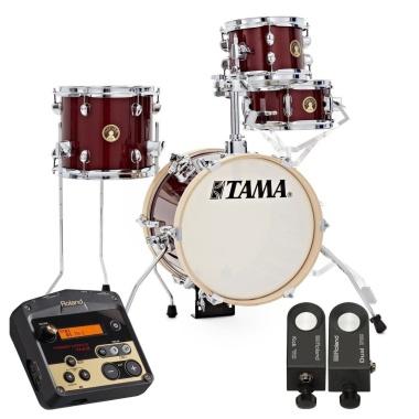 Tama Club-Jam Flyer 4pc HYBRID Roland Shell Pack – Candy Apple Mist