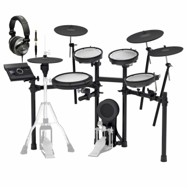 Roland TD-17KVX V-Drums Electronic Drum Kit – Headphone Bundle