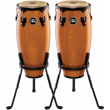 Meinl 10/11in Wood Congas W/Basket Stands – Maple