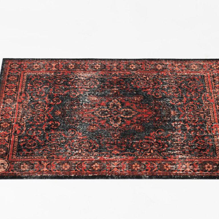 DRUMnBASE Black & Red Vintage Persian Drum Mat – 130cm X 90cm