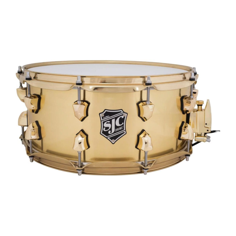 SJC Alpha 14×6.5in 1.2mm Brass Snare Drum with Brass Hardware