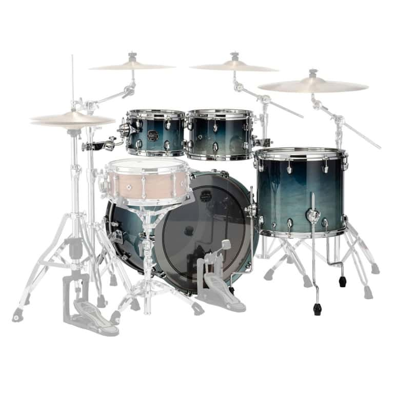 Mapex Saturn 2020 22in 4pc Short Stak Shell Pack – Teal Blue Fade