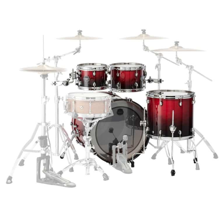 Mapex Saturn 2020 22in 4pc Short Stak Shell Pack – Scarlet Fade