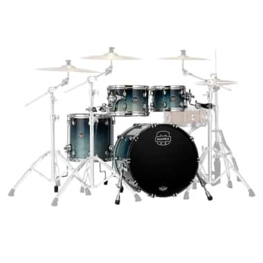 Mapex Saturn 22in 4pc Shell Pack – Teal Blue Fade