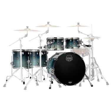 Mapex Saturn 2020 22in 5pc Short Stak Shell Pack – Teal Blue Fade