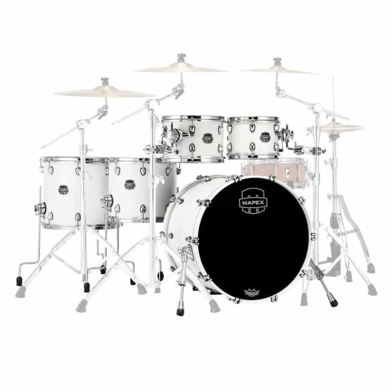 Mapex Saturn 2020 22in 5pc Short Stak Shell Pack – Satin White