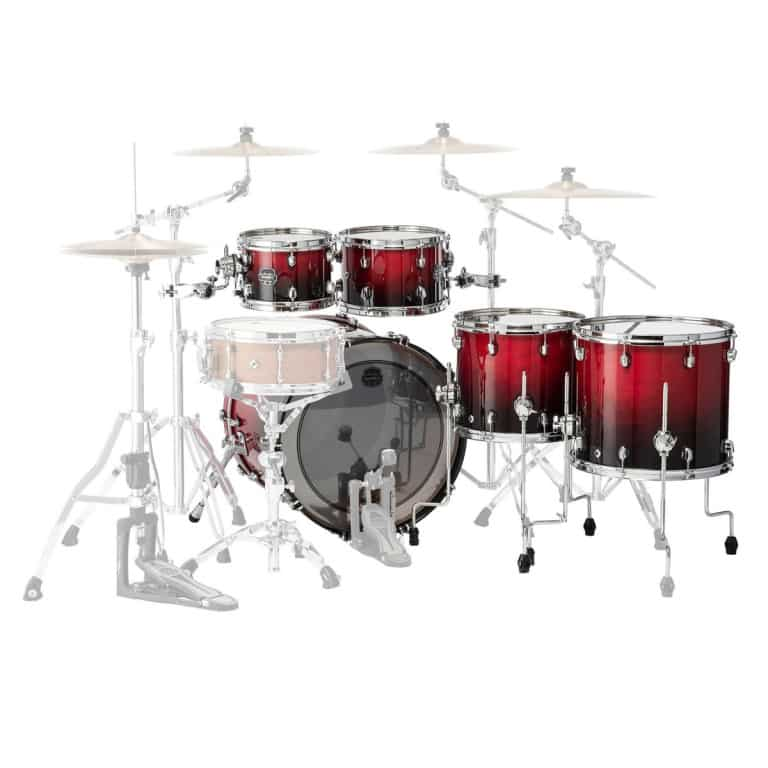 Mapex Saturn 2020 22in 5pc Short Stak Shell Pack – Scarlet Fade