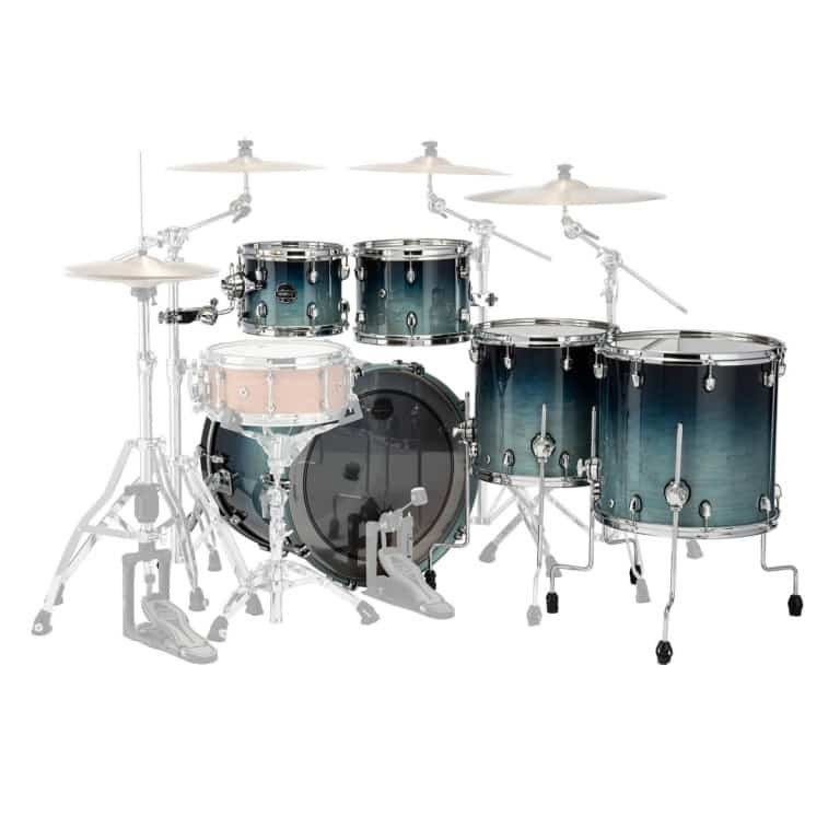 Mapex Saturn 2020 22in 5pc Shell Pack – Teal Blue Fade