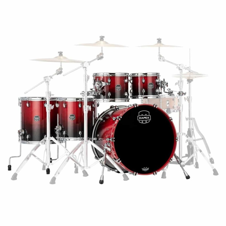 Mapex Saturn 2020 22in 5pc Shell Pack – Scarlet Fade