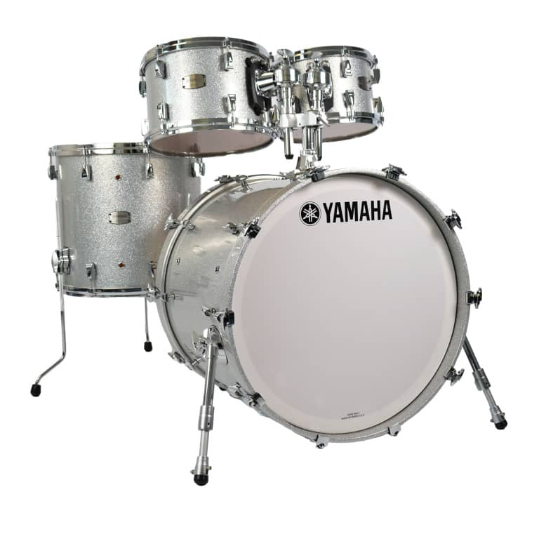Yamaha Absolute Hybrid Maple 22in 4pc Shell Pack – Silver Sparkle
