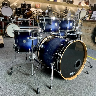 Mapex Meridian Maple 22in 5pc Shell Pack – Midnight Blue Burst – Pre-owned